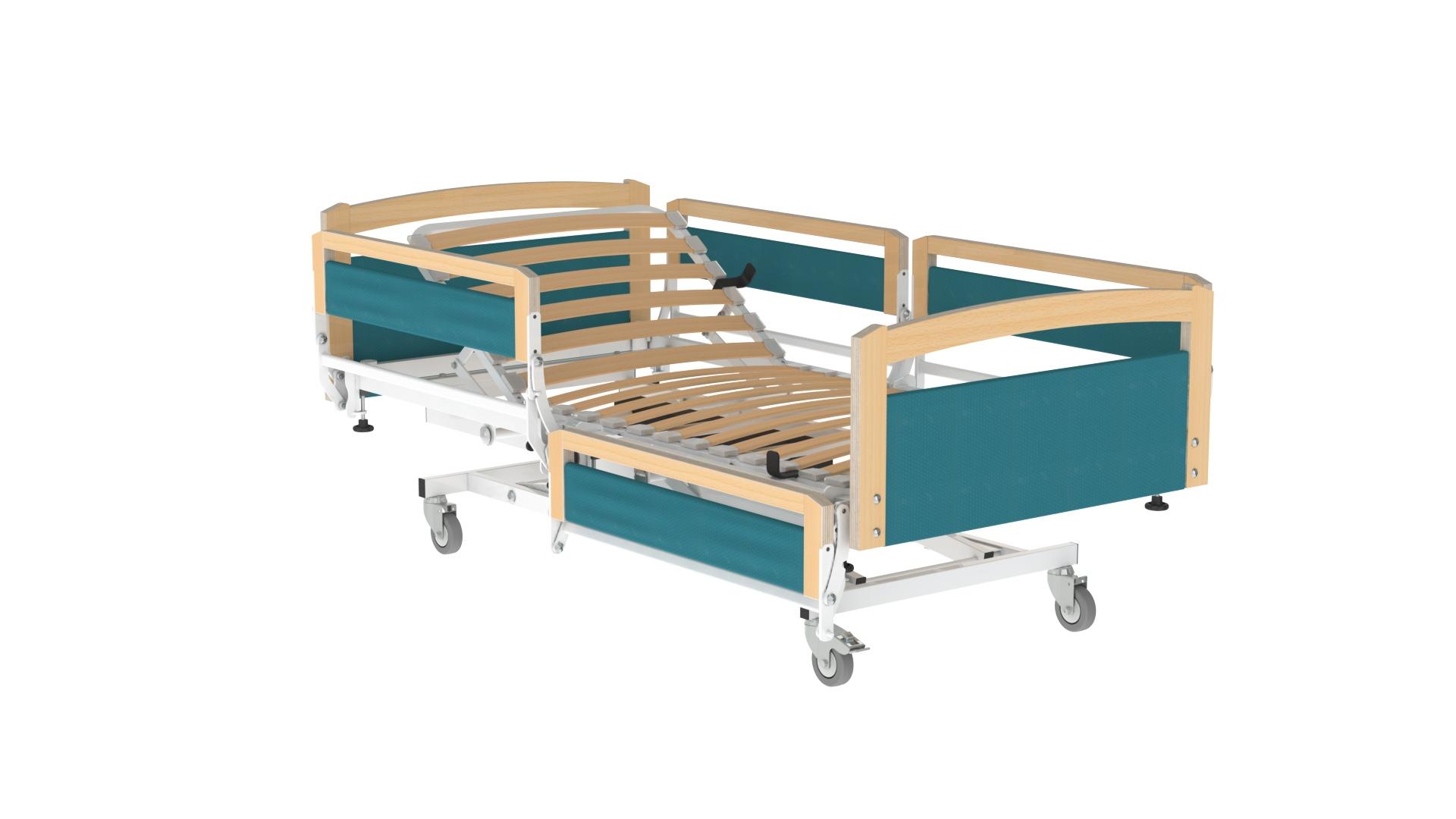 cama com guardas seccionadas